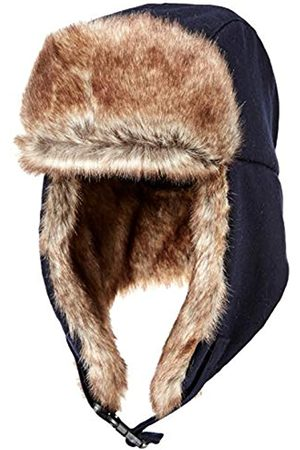 Amazon Hombre Sombreros - Trapper Hat with Faux Fur Cold-Weather-Hats, Marino
