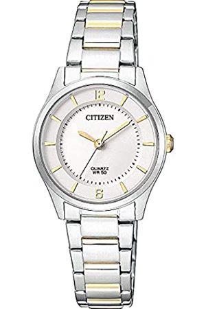 Citizen Reloj Analógico para Mujer de Cuarzo con Correa en Acero Inoxidable ER0201-72A