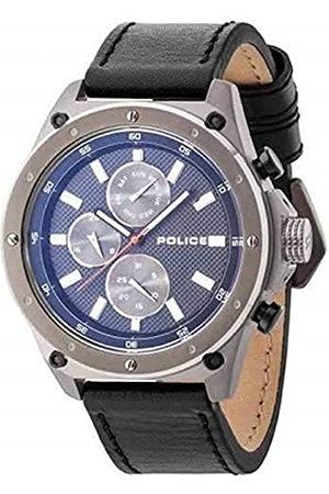 Police Reloj Analógico para Hombre de Cuarzo con Correa en Cuero P14537JSU02A