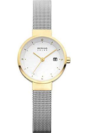Bering Reloj Analógico Solar Collection para Mujer de Energía Solar con Correa en Acero Inoxidable y Cristal de Zafiro 14426-010
