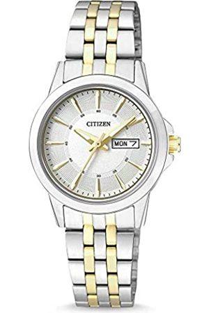 Citizen Mujer Relojes - Reloj Analógico para Mujer de Cuarzo con Correa en Acero Inoxidable EQ0608-55AE