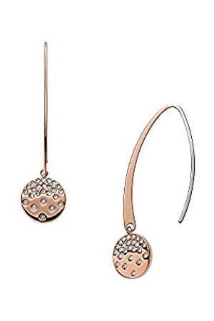 Skagen Pendientes colgantes para mujer, de acero inoxidable en tono oro rosa