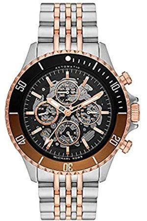 Michael Kors Reloj Bayville para hombre, de de acero inoxidable y movimiento automático con cronógrafo