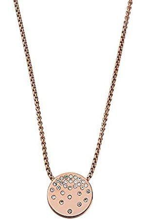 Skagen Collar con colgante para mujer, de acero inoxidable en tono oro rosa
