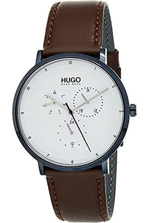 HUGO BOSS Reloj Multiesfera para Hombre de Cuarzo con Correa en Cuero 1530008
