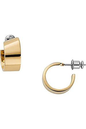 Skagen Pendientes de aro para mujer, de acero inoxidable en tono dorado