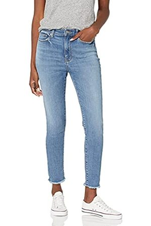Goodthreads High-Rise Skinny Jeans, Cropped Fray Storm Blue Wash