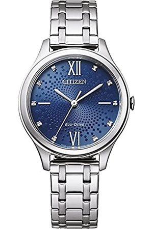 Citizen Mujer Relojes - Reloj Analógico para Mujer de Eco-Drive con Correa en Acero Inoxidable EM0500-73L