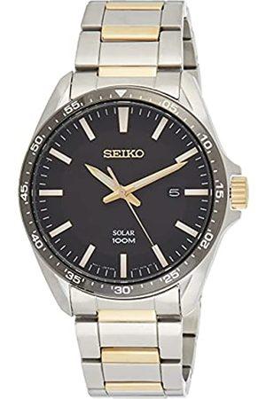 Seiko Reloj Analógico para Hombre de Cuarzo con Correa en Acero Inoxidable SNE485P1
