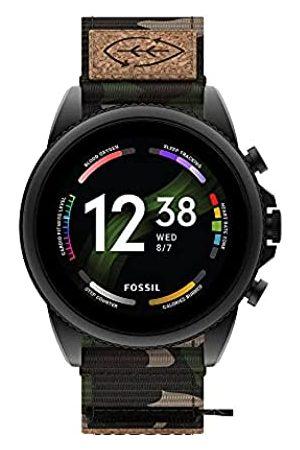 Fossil Smartwatch Gen 6 Para Hombre, de de Acero Inoxidable, en Tono Negro, con Correa de Grogrén de Verde