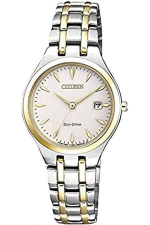 Citizen Mujer Relojes - Reloj Analogico para Mujer de Energía Solar con Correa en Acero Inoxidable EW2484-82B