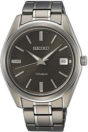 Seiko Reloj Analógico para Hombre de Cuarzo con Correa en Metal SUR375P1