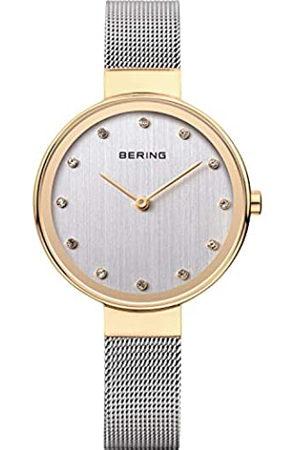 BERING Mujer Relojes - Reloj Analógico Classic Collection para Mujer de Cuarzo con Correa en Acero Inoxidable y Cristal de Zafiro 12034-010
