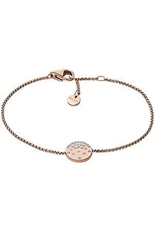 Skagen Mujer Pulseras - Pulsera de cadena para mujer, de , de acero inoxidable en tono oro rosa