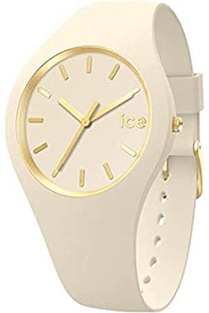 Ice-Watch Mujer Relojes - Ice Glam Brushed Almond Skin, Reloj para Mujer con Correa de Silicona, 019533