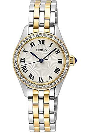 Seiko Reloj Analógico para Mujer de maquinaria Japonesa de Cuarzo con Correa en Acero Inoxidable SUR336P1