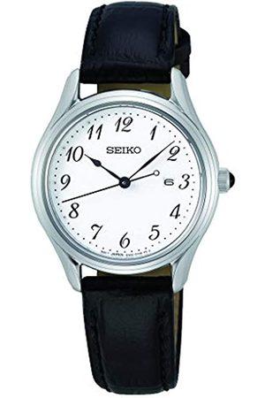 Seiko Mujer Relojes - Reloj Analógico para Mujer de Cuarzo con Correa en Cuero 1