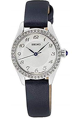 Seiko Reloj Analógico para Mujer de Cuarzo con Correa en Cuero SUR385P2
