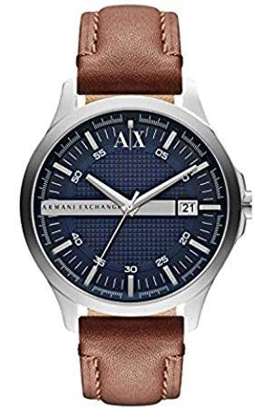 Armani Hombre Relojes - Reloj Analogico para Hombre de Cuarzo con Correa en Piel AX2133