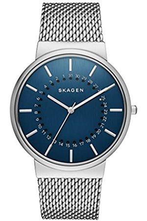 Skagen – Reloj de Hombre de Cuarzo con Esfera Analógica Pantalla y Plata Pulsera de Acero Inoxidable SKW6234