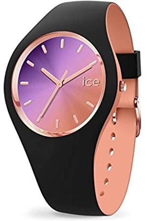 Ice-Watch ICE Duo Chic Black Purple - Reloj para Mujer con Correa de Silicona