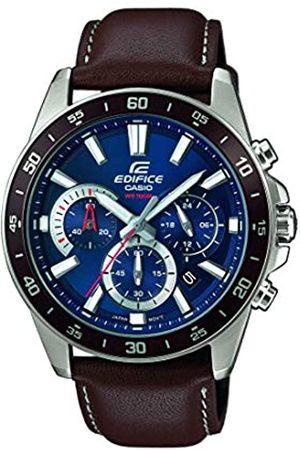 Casio EDIFICE Reloj en caja sólida, 10 BAR, Azul, para Hombre, con Correa de Acero inoxidable