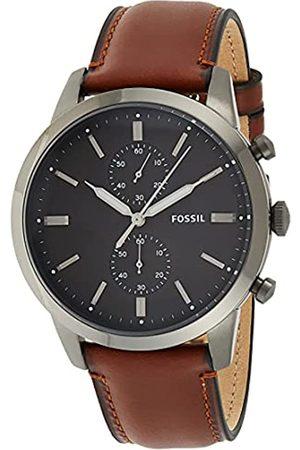Fossil Reloj Cronógrafo para Hombre de Cuarzo con Correa en Piel FS5522