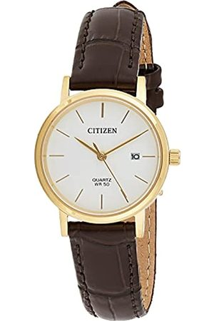 Citizen Reloj Análogo para Señoras de Cuarzo con Correa en Cuero EU6092-08A