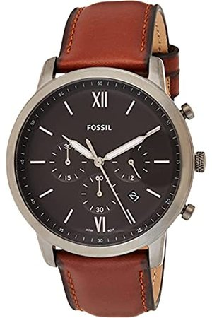 Fossil Reloj Cronógrafo para Hombre de Cuarzo con Correa en Piel FS5512