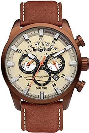 Timberland Reloj Analógico para Hombre de Cuarzo con Correa en Cuero TDWGF2100604