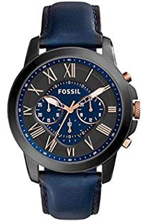 Fossil Reloj Cronógrafo para Hombre de Cuarzo con Correa en Piel FS5061