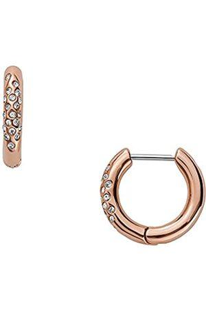 Skagen Pendientes de aro para mujer, de acero inoxidable en tono oro rosa