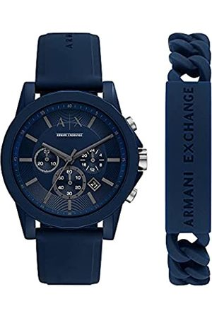 Armani Reloj para hombre, de nailon en tono y con cronógrafo