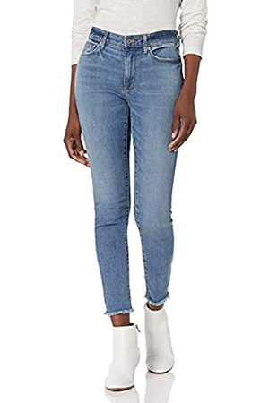 Goodthreads Mid-Rise Skinny Jeans, Cropped Fray Storm Blue Wash