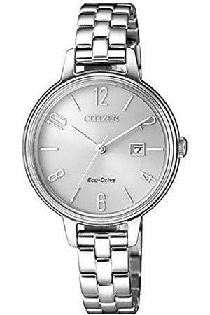 Citizen Reloj Analógico para Mujer de Cuarzo con Correa en Acero Inoxidable EW2440-88A