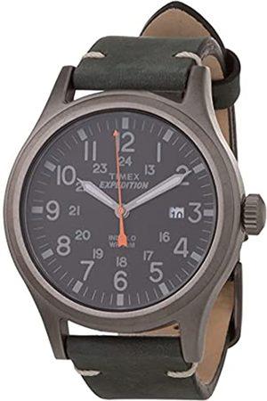 Timex Expedition - Reloj análogico para Hombre de cuarzo con correa de cuero