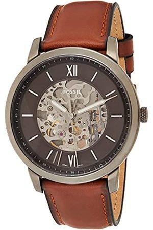 Fossil Reloj Analógico para Hombre de Automático con Correa en Cuero ME3161