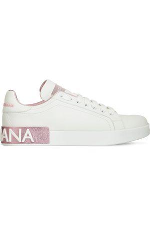 Dolce & Gabbana Mujer Zapatillas deportivas - | Mujer Sneakers Portofino De Piel 20mm /rosa 40