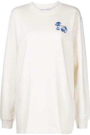OFF-WHITE Vestido tipo sudadera con logo