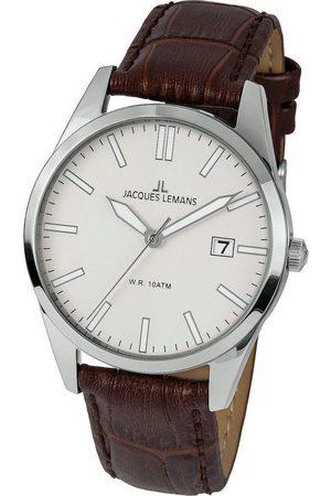 Jacques Lemans Reloj analógico 1-2002E, Quartz, 40mm, 10ATM para hombre
