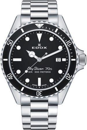 Edox Reloj analógico 53017-3NM-NI, Quartz, 42mm, 30ATM para hombre
