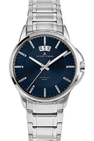 Jacques Lemans Reloj analógico 1-1540M, Quartz, 42mm, 10ATM para hombre