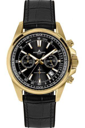 Jacques Lemans Reloj analógico 1-2117E, Quartz, 44mm, 20ATM para hombre