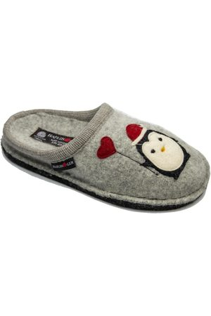 Haflinger Pantuflas HF-PINGUINO-gri-D para mujer