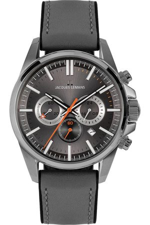 Jacques Lemans Reloj analógico 1-2119A, Quartz, 44mm, 10ATM para hombre