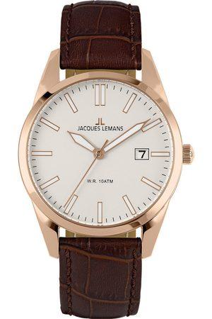 Jacques Lemans Reloj analógico 1-2002P, Quartz, 40mm, 10ATM para hombre