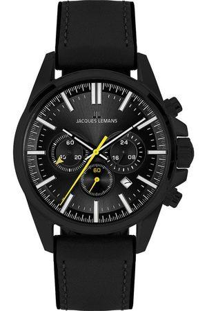 Jacques Lemans Reloj analógico 1-2119B, Quartz, 44mm, 10ATM para hombre