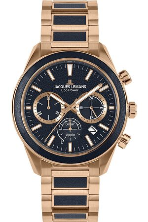 Jacques Lemans Reloj analógico 1-2115H, Quartz, 44mm, 10ATM para hombre
