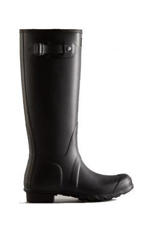 Hunter Botas de agua bota original en suela caucho natural para mujer