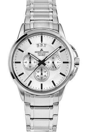 Jacques Lemans Reloj analógico 1-1542P, Quartz, 42mm, 10ATM para hombre